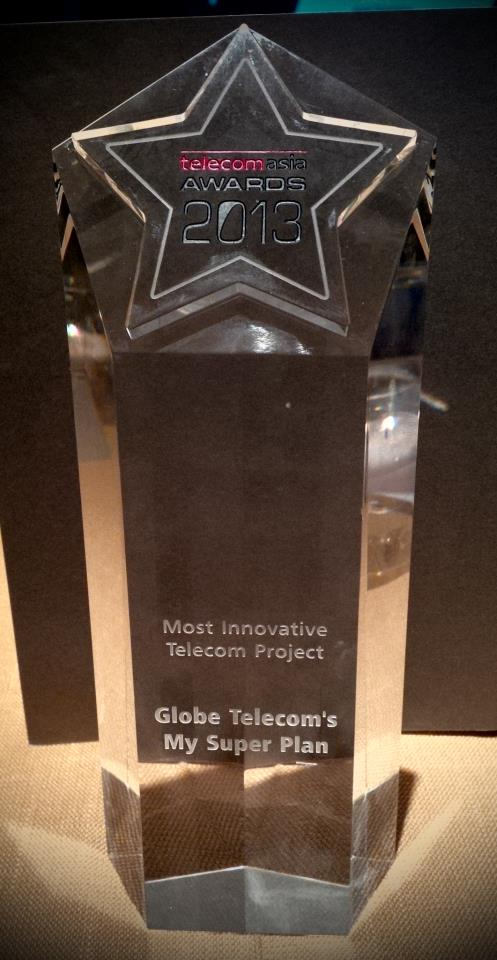 Globe My Super Plan trophy