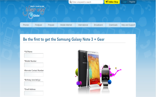Get the latest Samsung flagship device through this pre-order portal by Globe Telecom!
