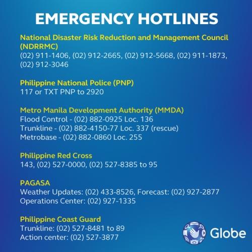 Globe-emergency-numbers